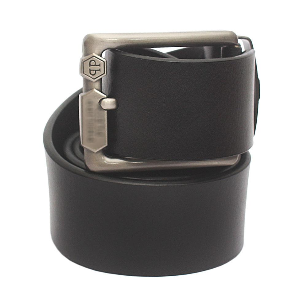 Black Premium Leather Belt L 44 Inches
