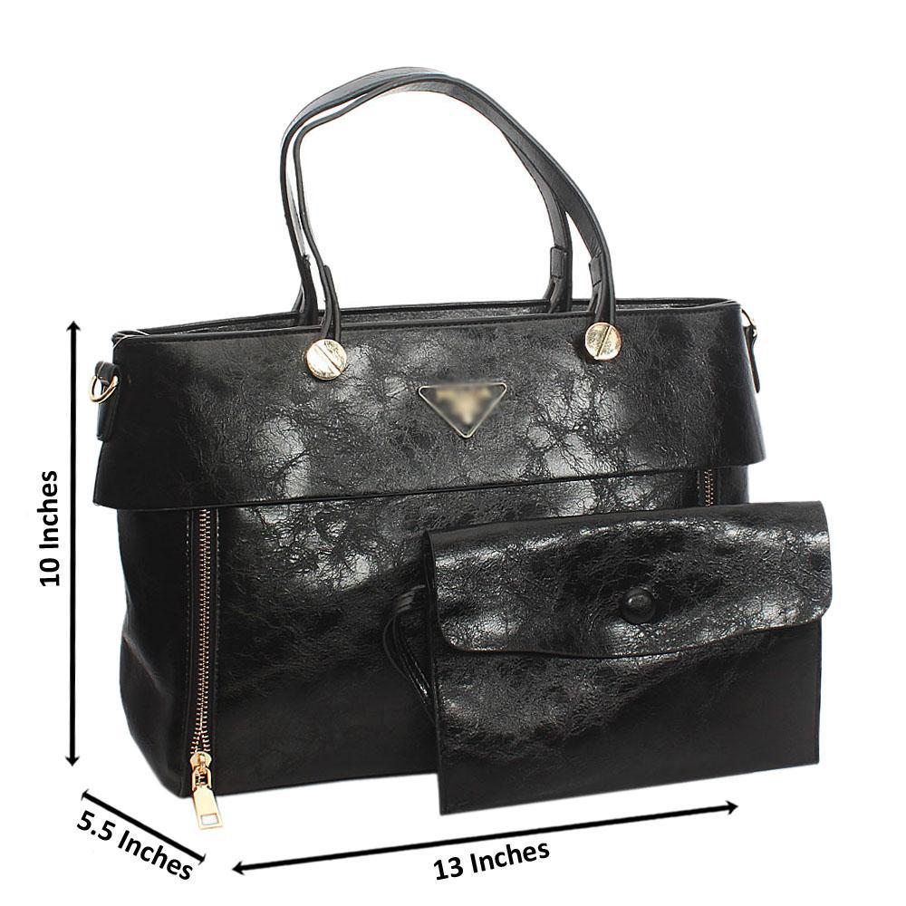 Black Orla Tuscany Leather Tote Handbag