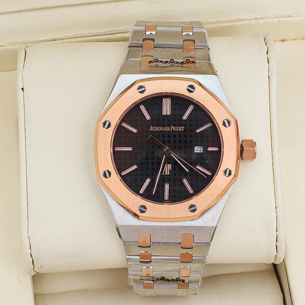 Royal Oak Silver/Rose Gold Steel Mens Watch