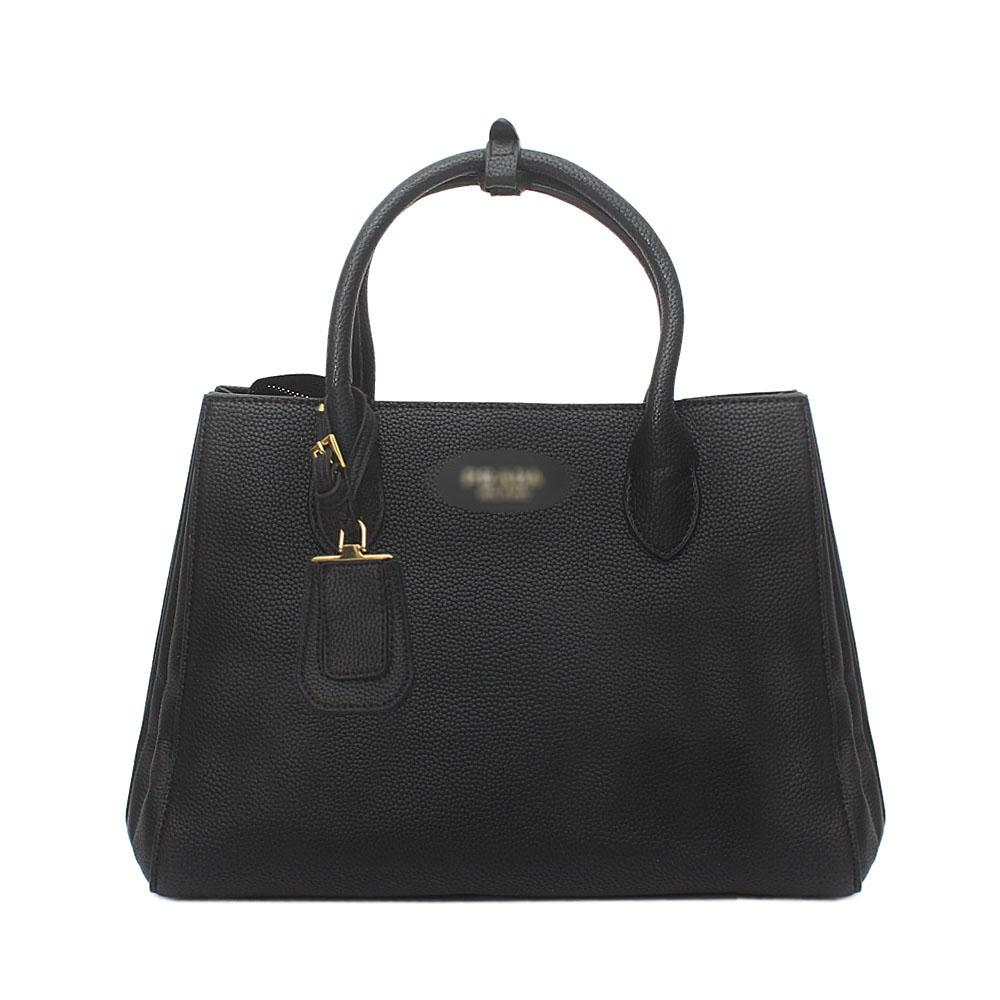 Black Milano Leather Tote Bag