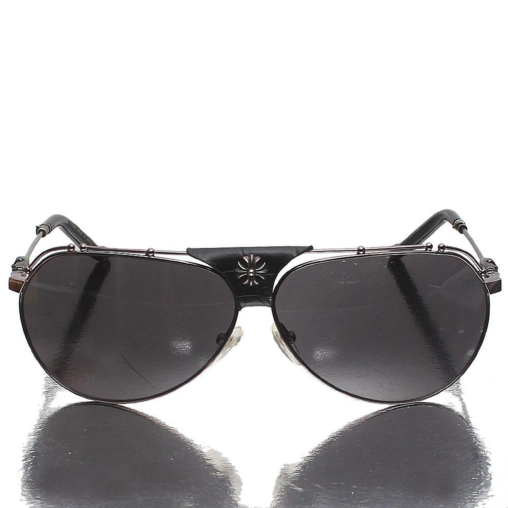 Black Aviator Dark Lens Sunglasses