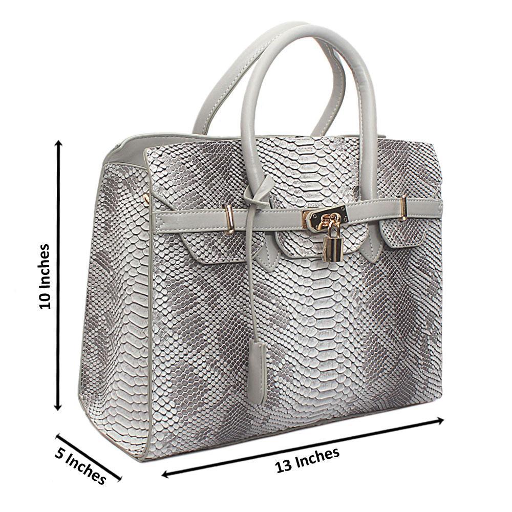 Grey Leather  Matte Crocodile Birkin bag
