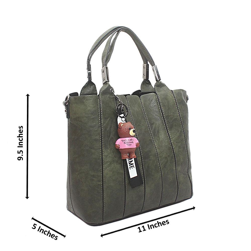Green El Paso Leather Handbag