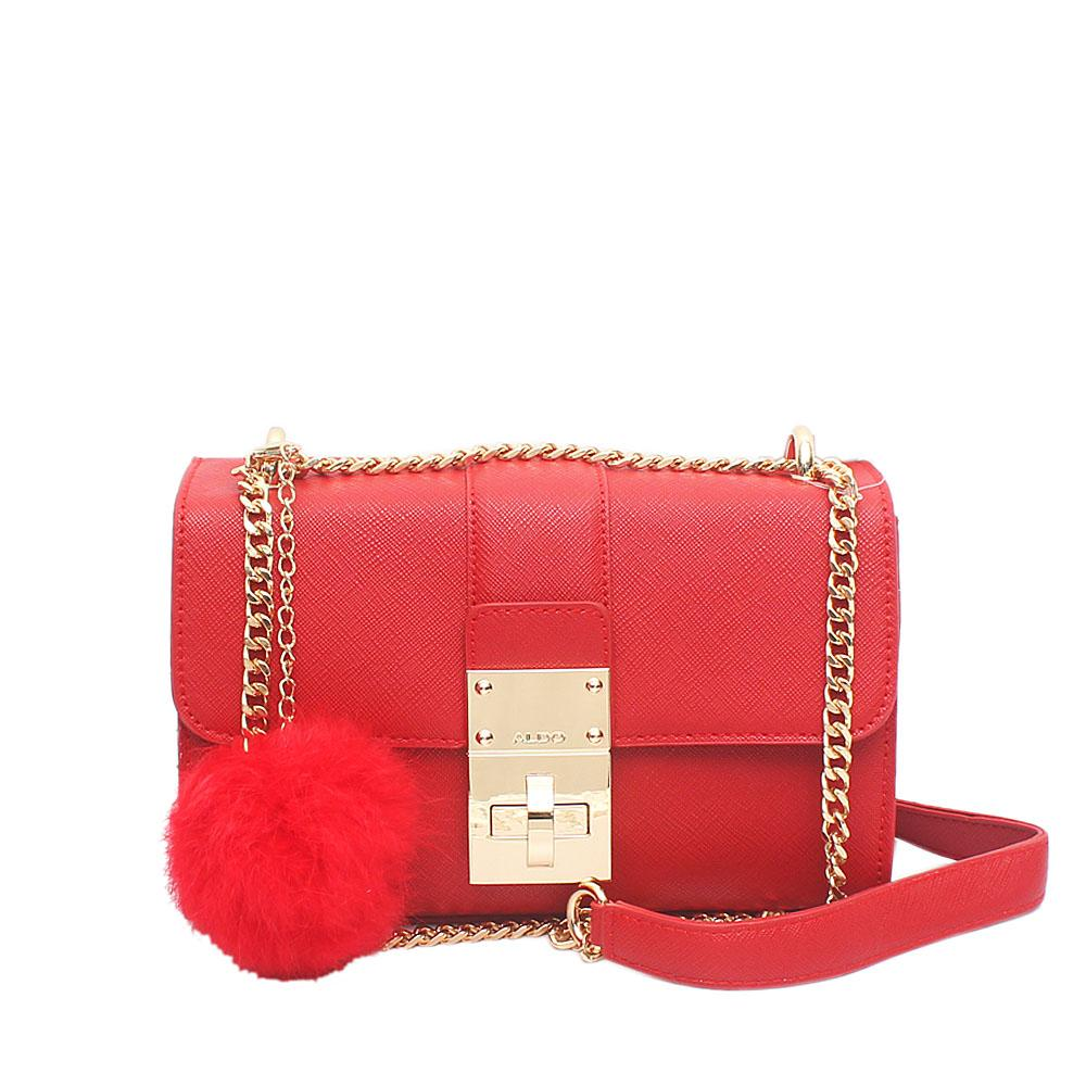 Aldo Red Leather Small Cross Body Bag
