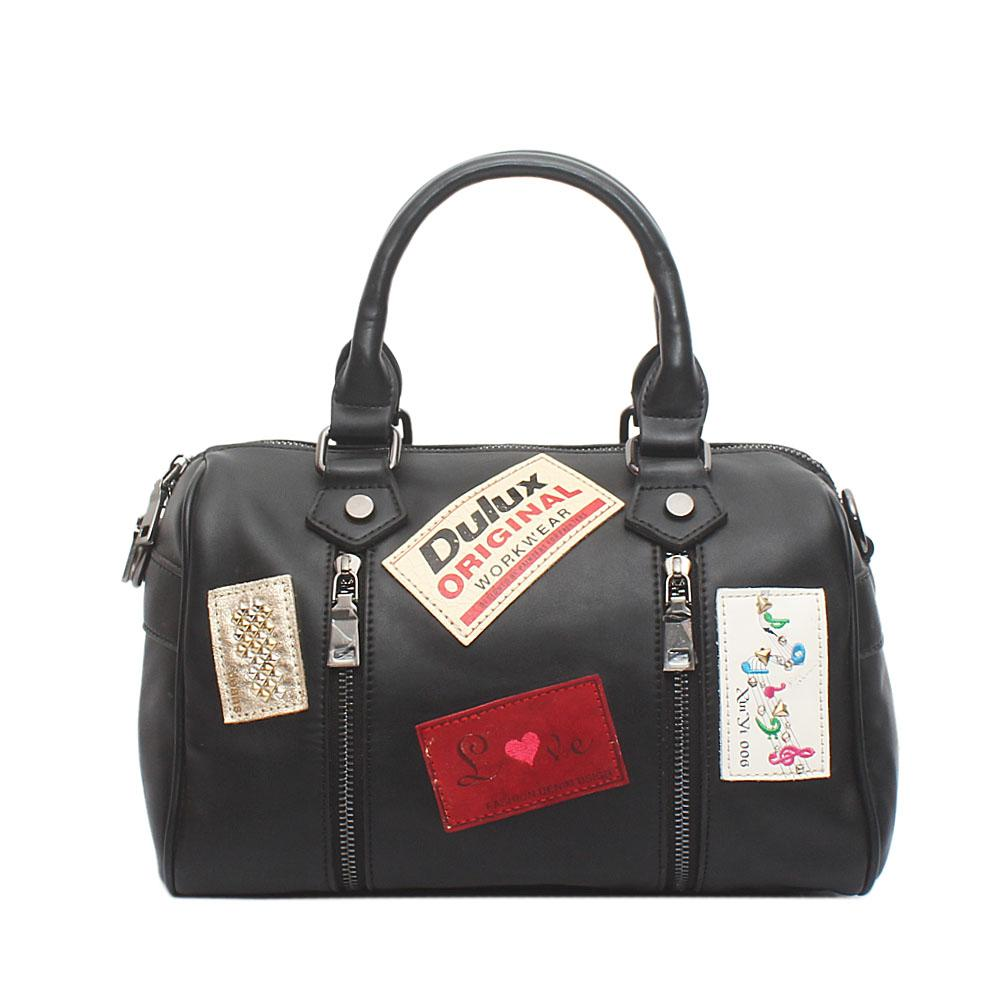 Dulux Black Leather Bag