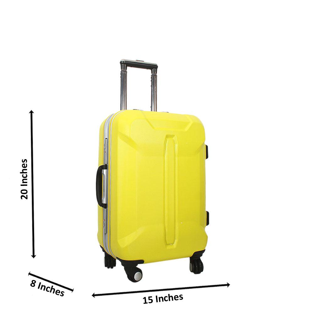 Yellow 20 Inch Hardshell Carry On Luggage Wt TSA Lock