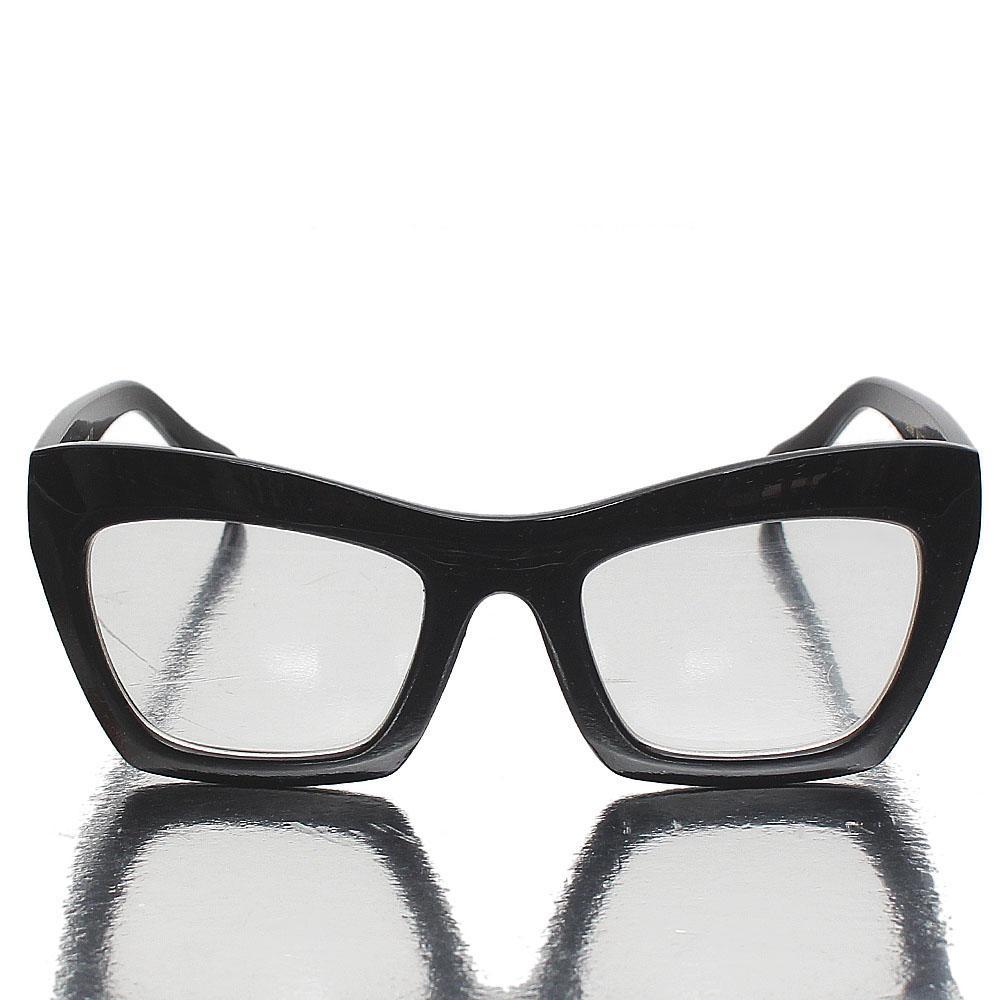 Black Cat Eye Clear Lens Glasses