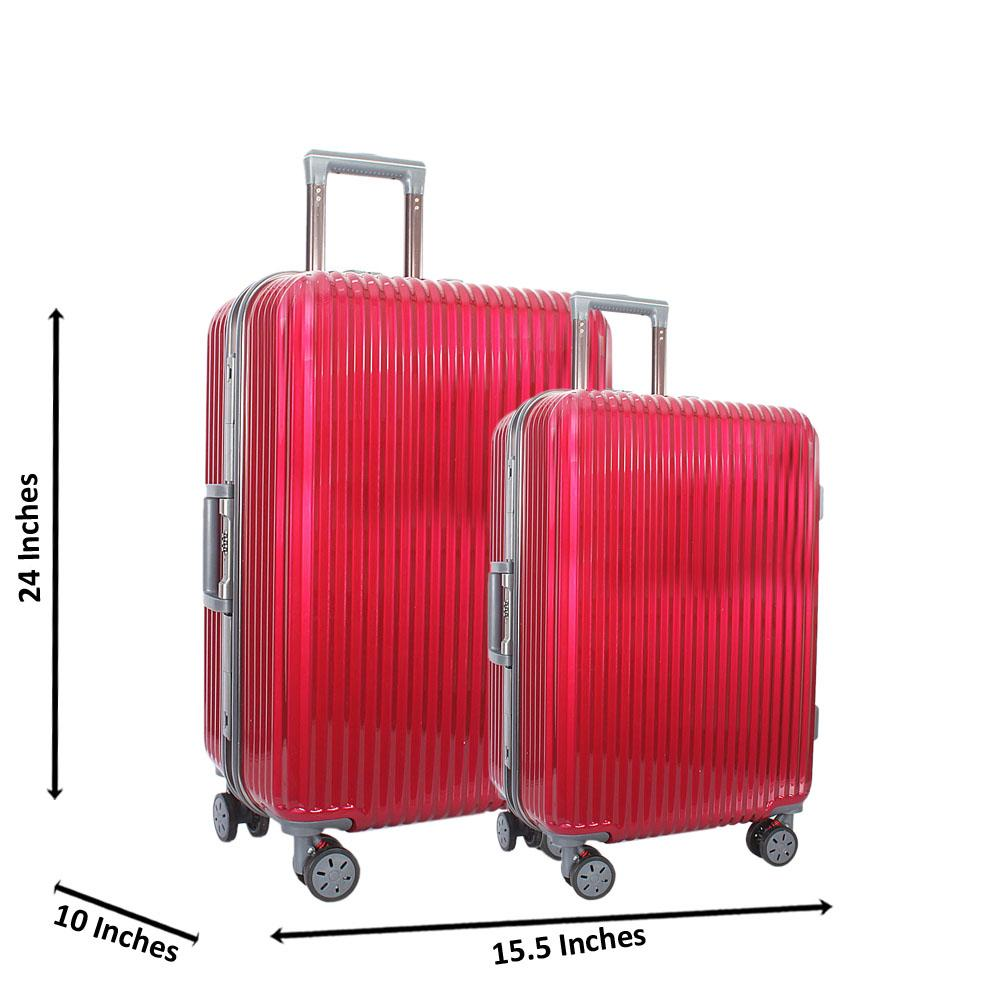 Baby Pink 24 inch Wt 20 inch 2 in 1 Hardshell Luggage Set Wt TSA Lock