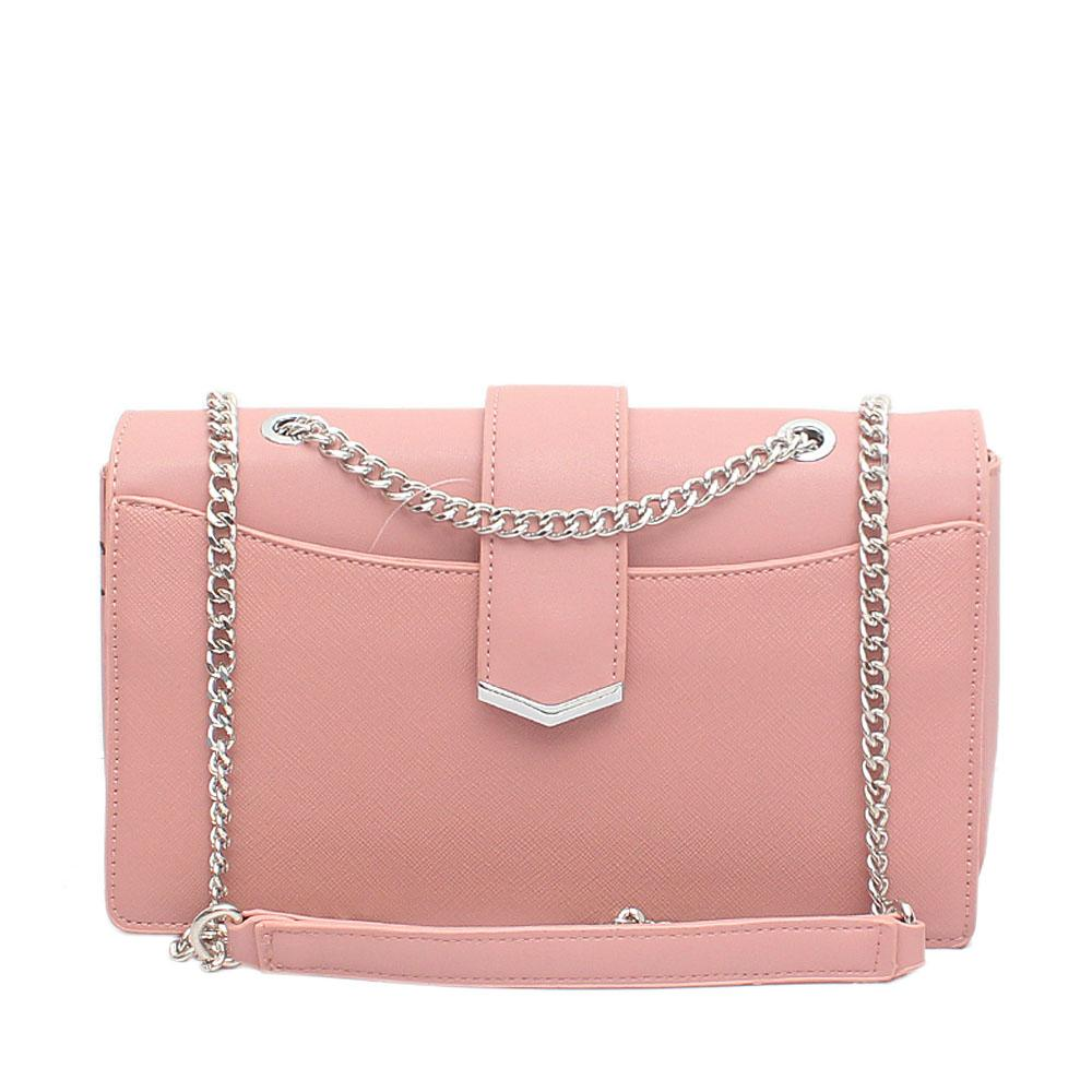 Pink Leather Small Cross Body Bag
