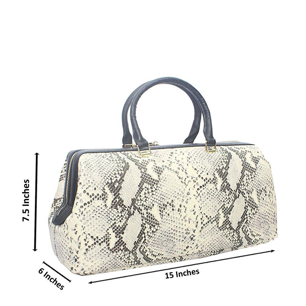 DH Vintage Cream Black Montana Leather Handbag