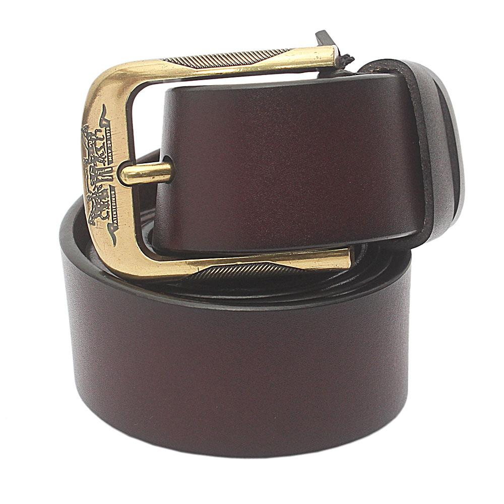 Dark Tan Brown Premium Leather Belt L 50 Inches