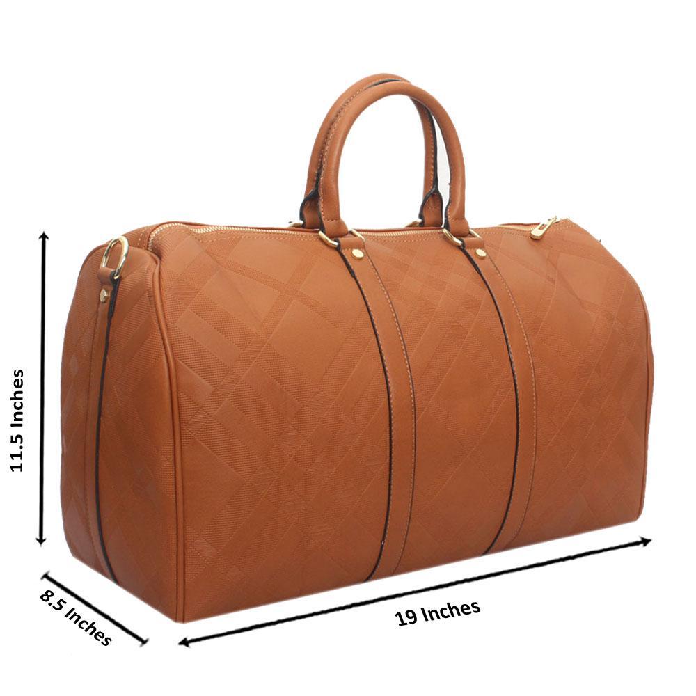 Brown Leather Large Haymarket Bowling Bag