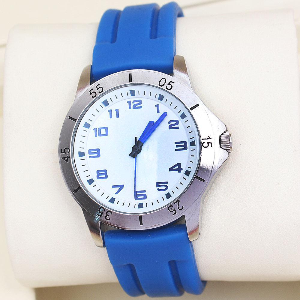 M & S Blue Rubber Strap Men Watch -comes in wholesale case
