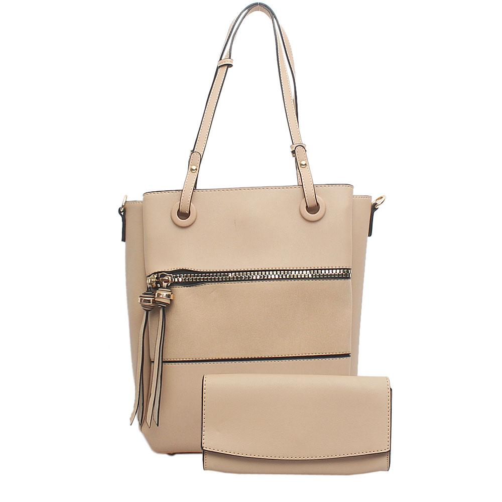 Nottinghill Khaki Brown Leather Handbag