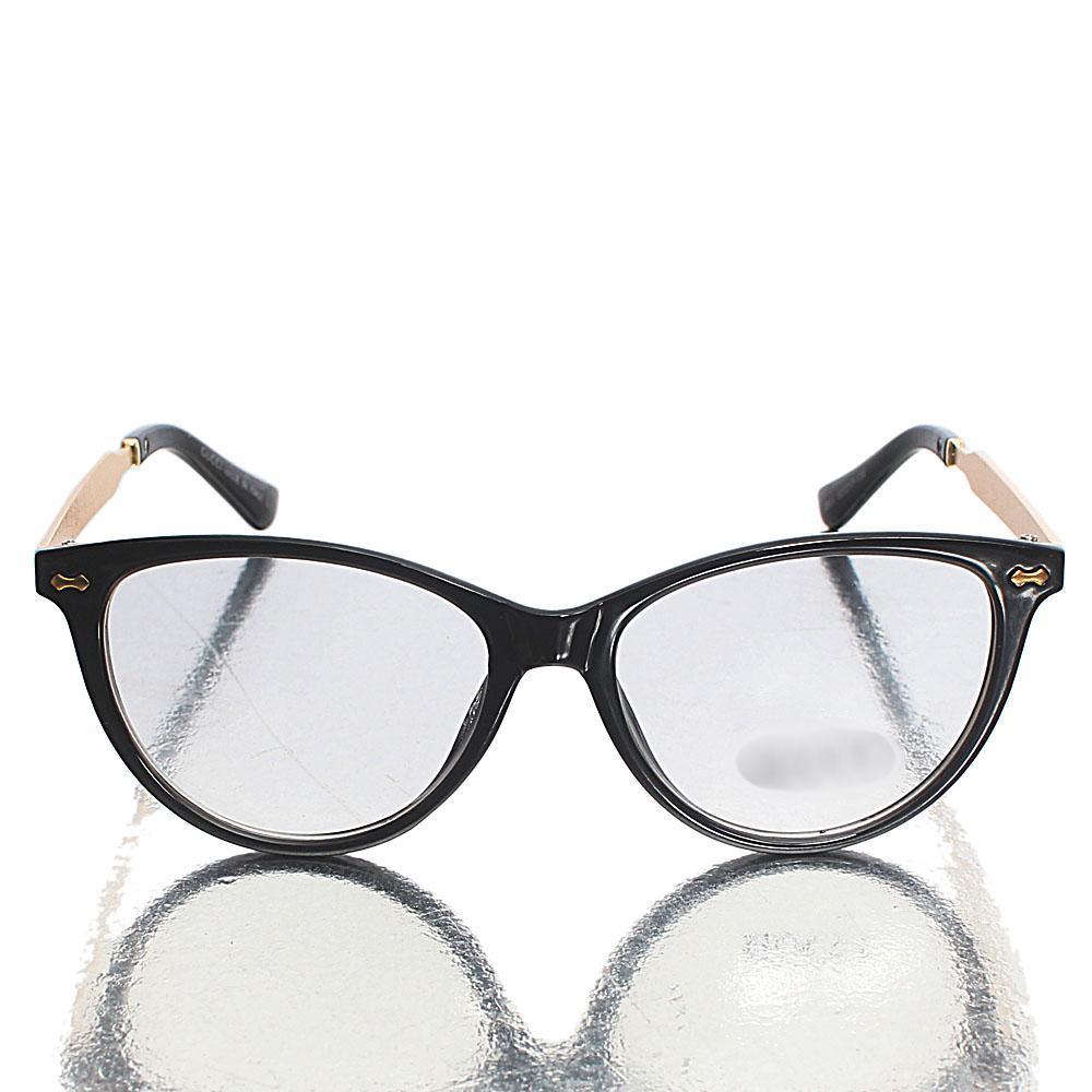 Black Cat-Eye Transparent Lens Glasses