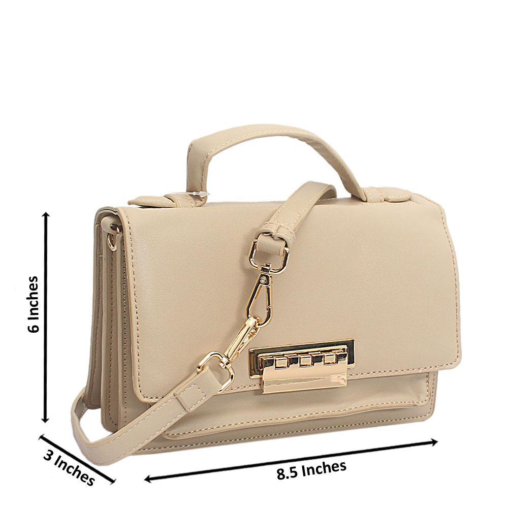 Cream Leather Mini Delightful Bag
