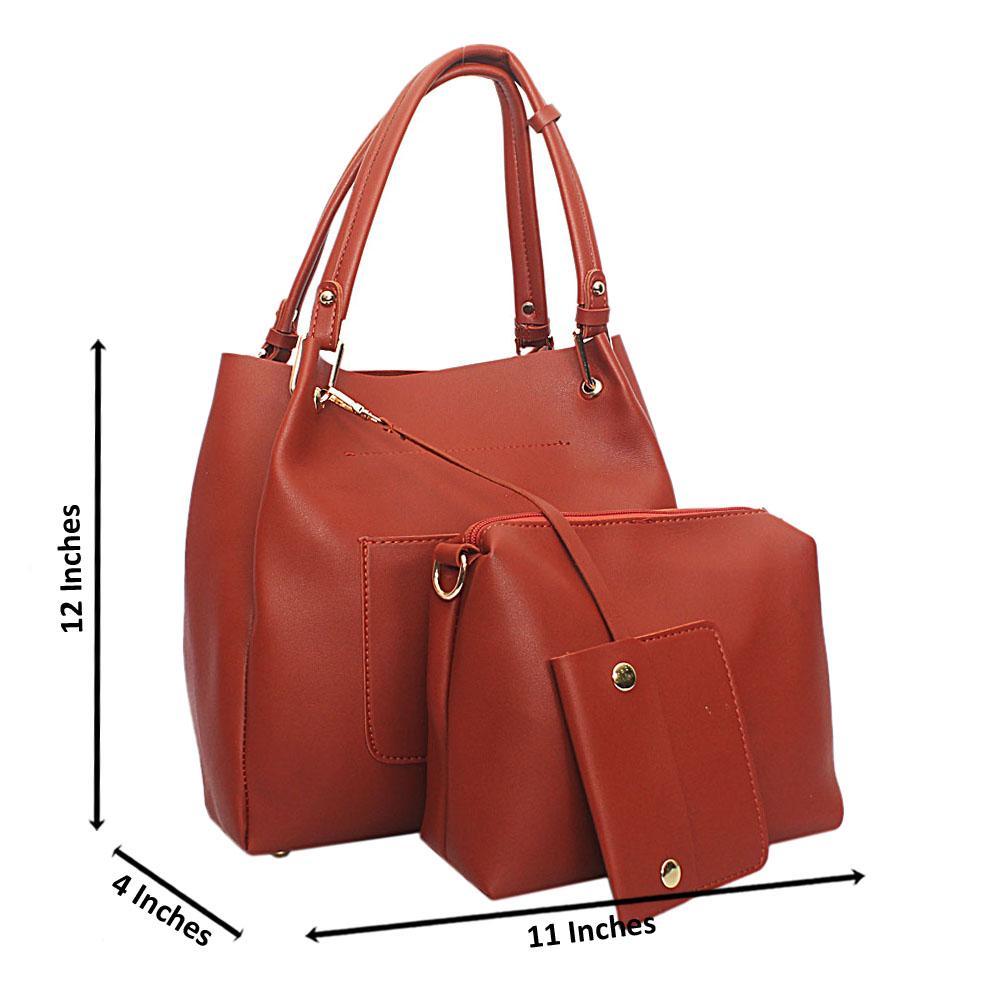 Brown Eva Plane Leather Handbag