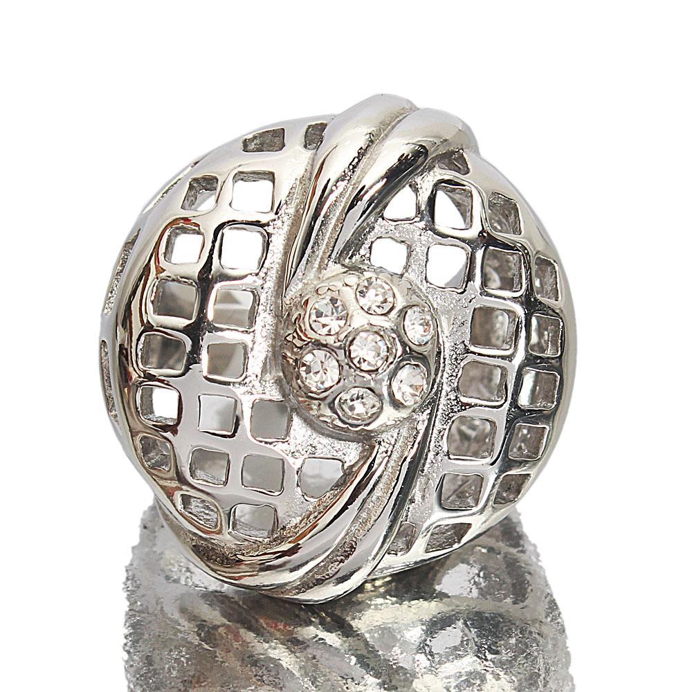 Silver Steel Mesh Style Vintage Ladies Ring