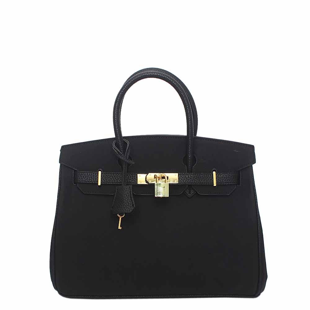 Black Suede Leather Matte Birkin Bag