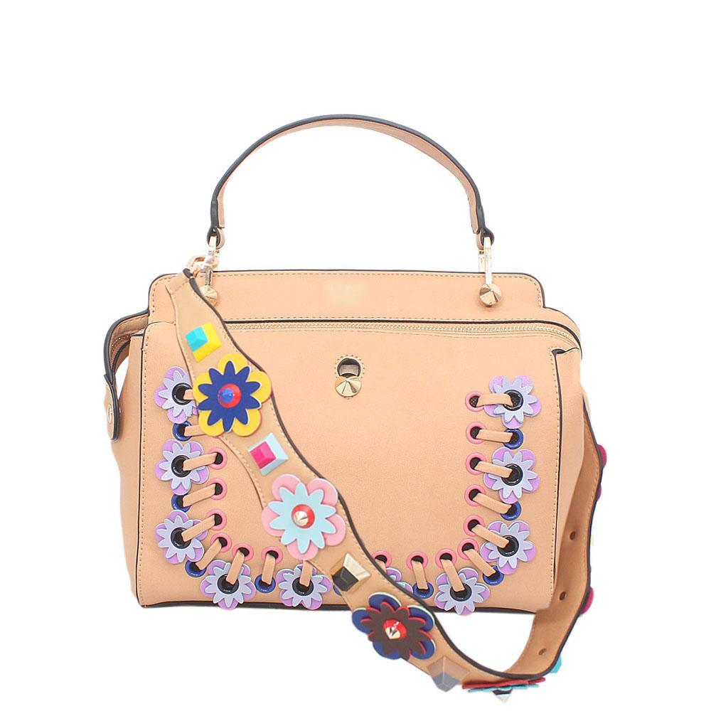 Brown Leather Dotcom Bag