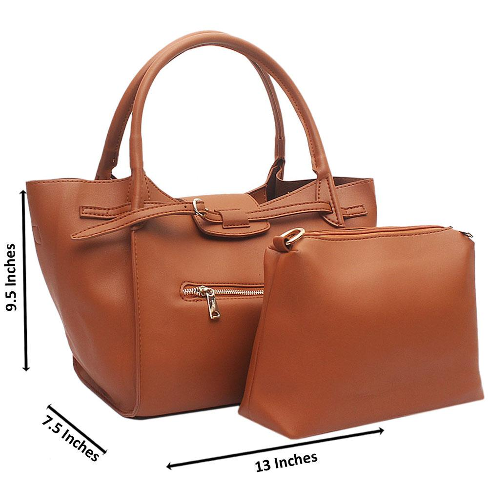 Brown Beatrice Medium Leather Handbag