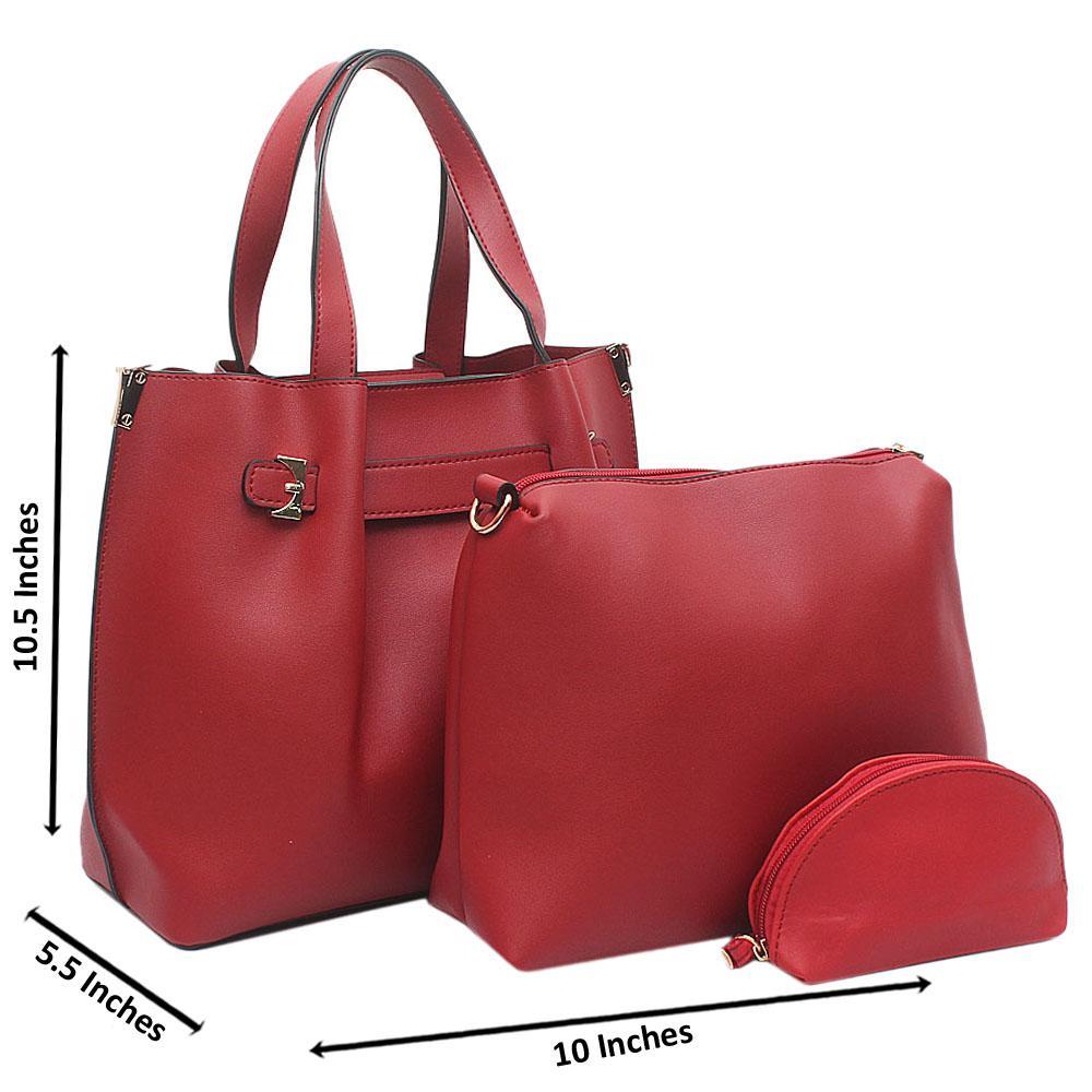 Red Mabel Medium Leather Handbag