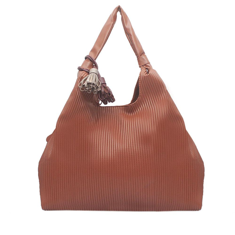 Mingo Brown Leather Shoulder Bag
