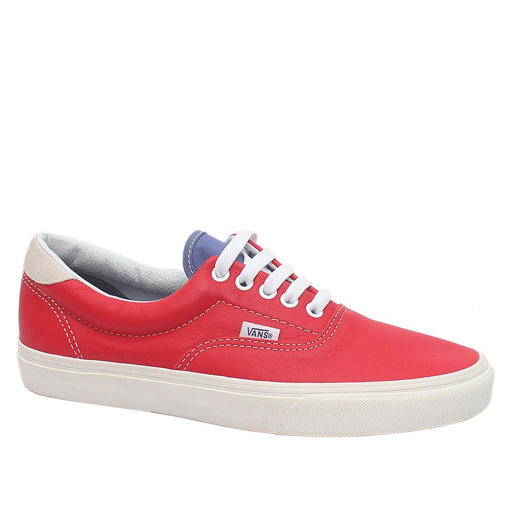Vans Off The Wall Red Exotic Leather Men Sneakers