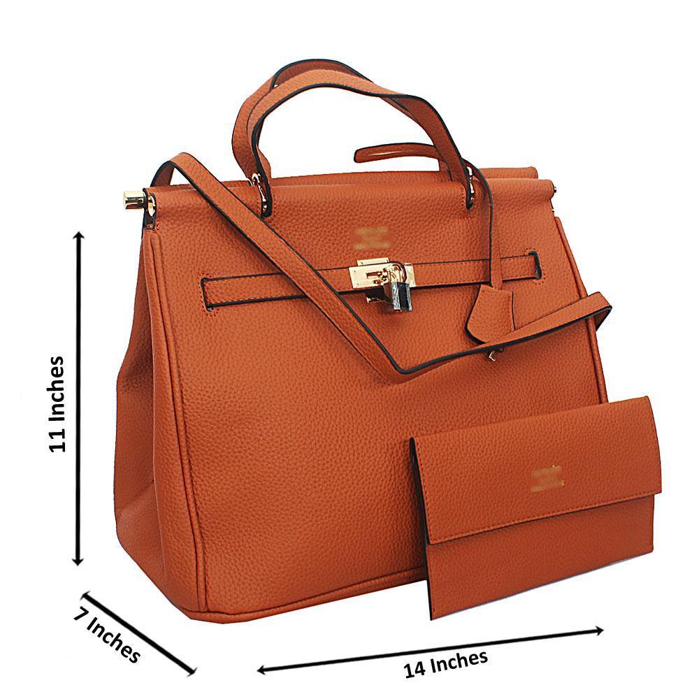 Brown Kalila Tuscany Leather Tote Handbag