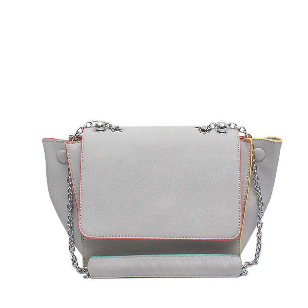 Snorks Barbie  Grey Leather Shoulder Bag