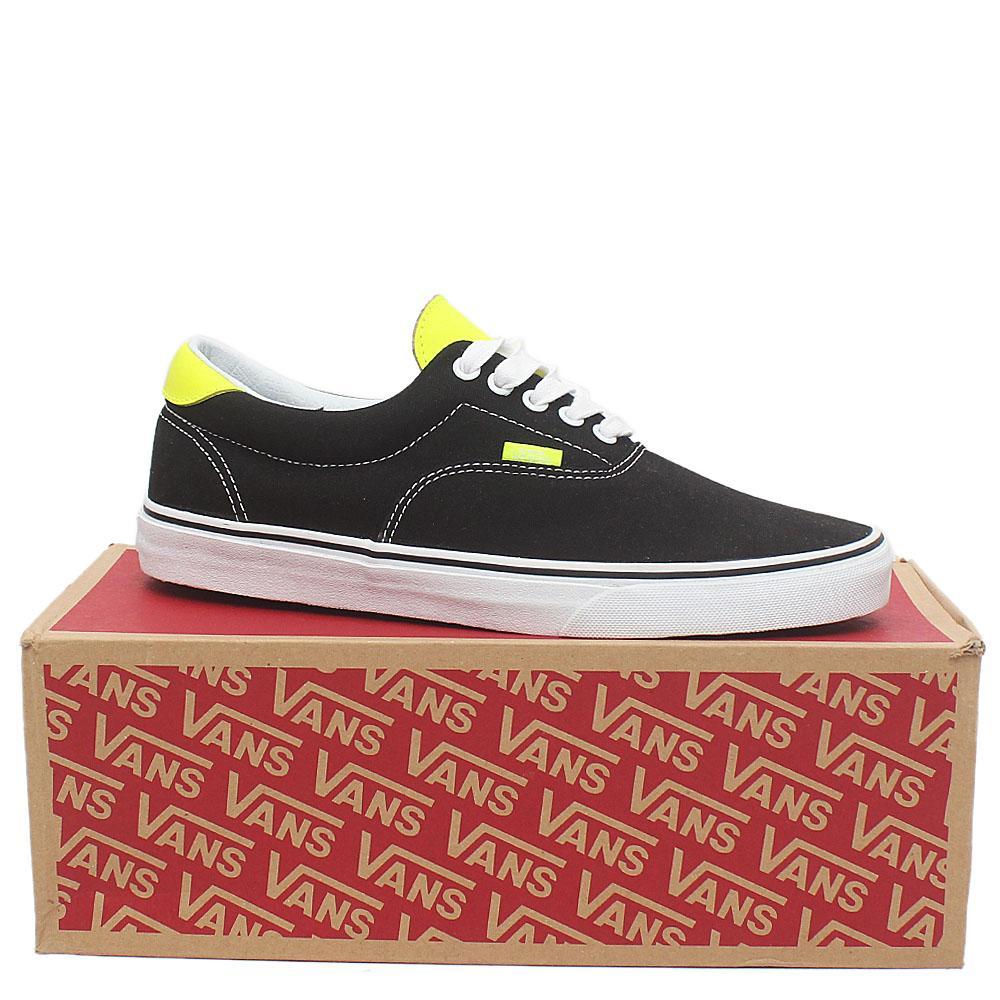 Vans Off The Wall Black Lemon Fabric Men Sneakers