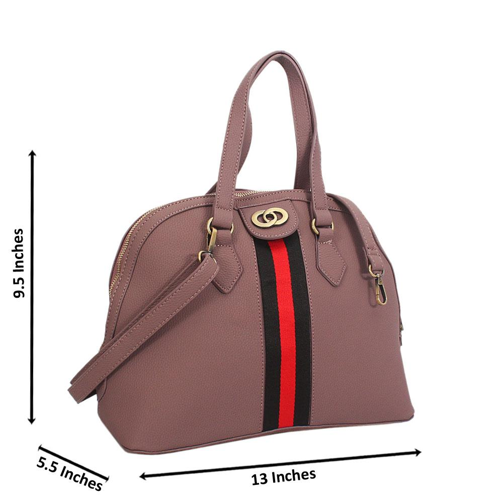 Pink Diane Leather Tote Handbag