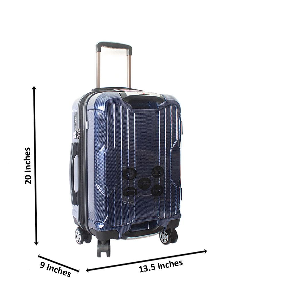 Saint Blue 20 inch  Hardshell Spinners Premium Carry On Luggage