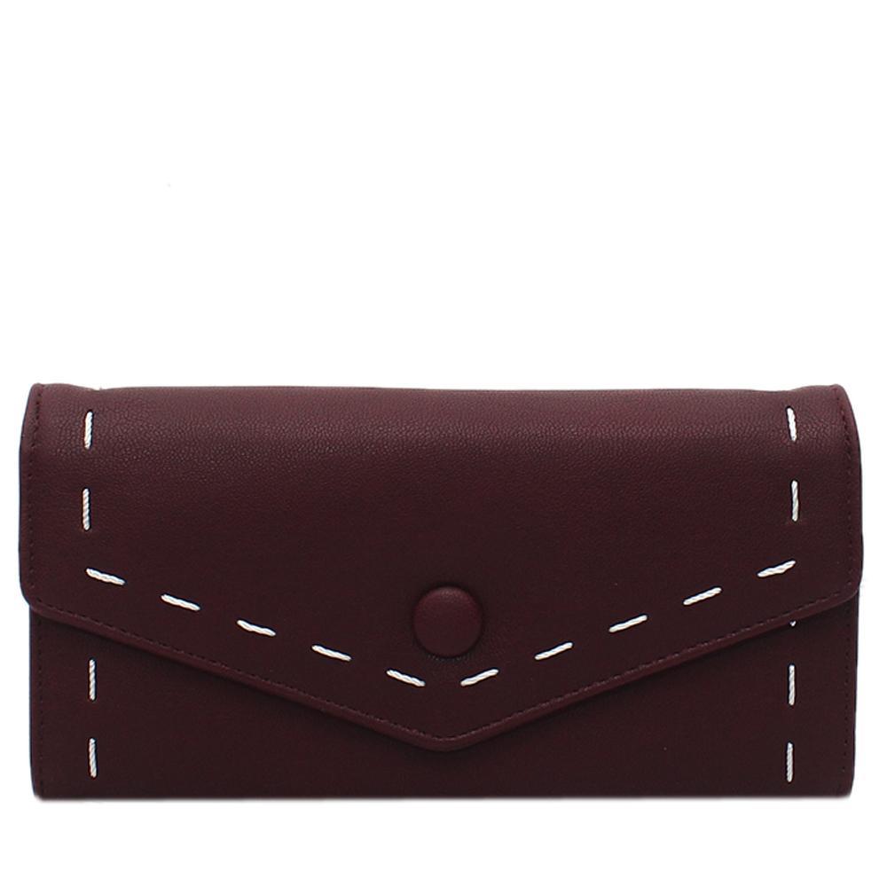 Wine-Leather-Ladies-Wallet