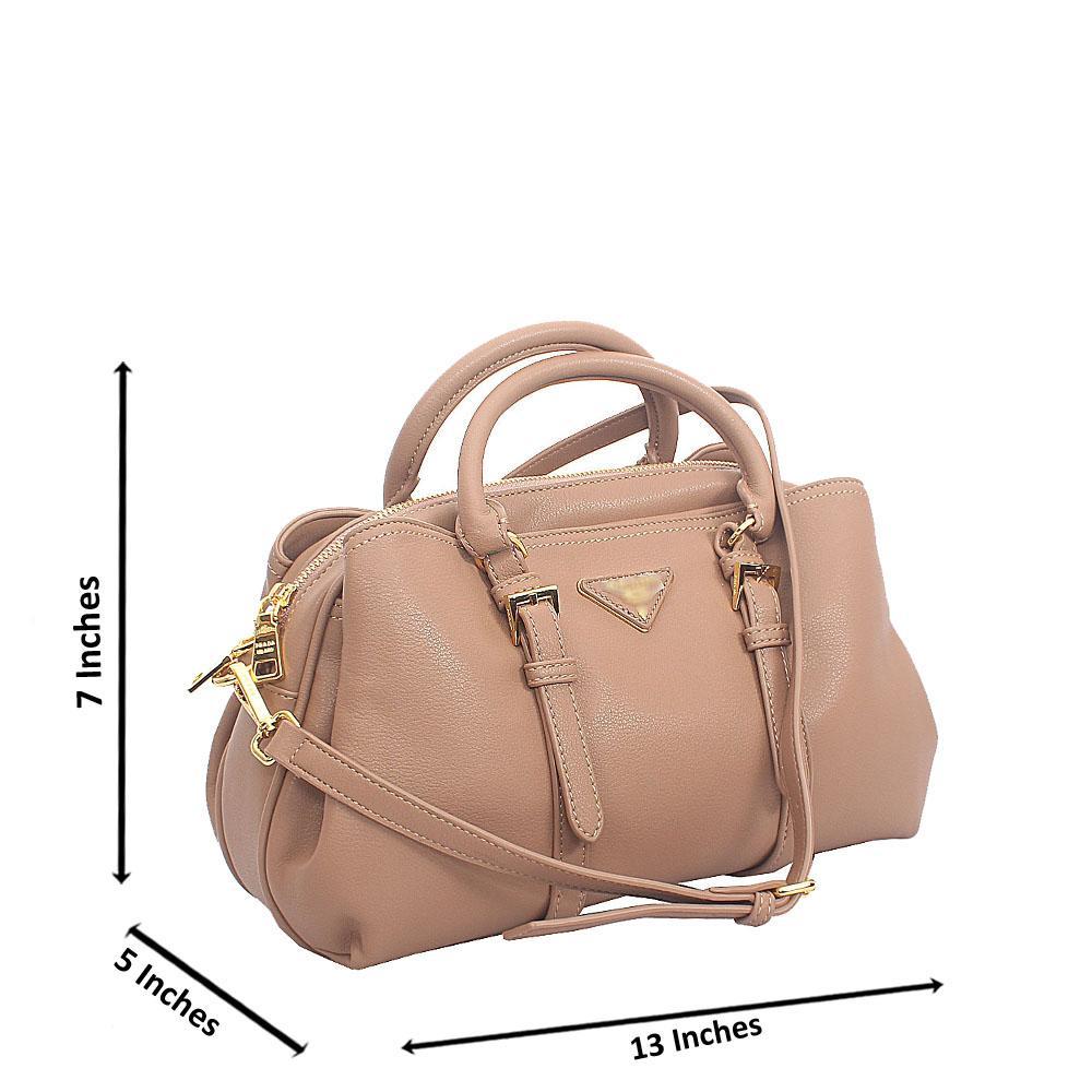Khaki Amai Tuscany Leather Small Tote Handbag