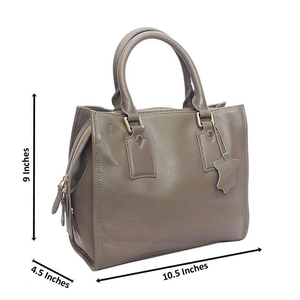 Classy Grey London Styled Tuscany Leather Handbag
