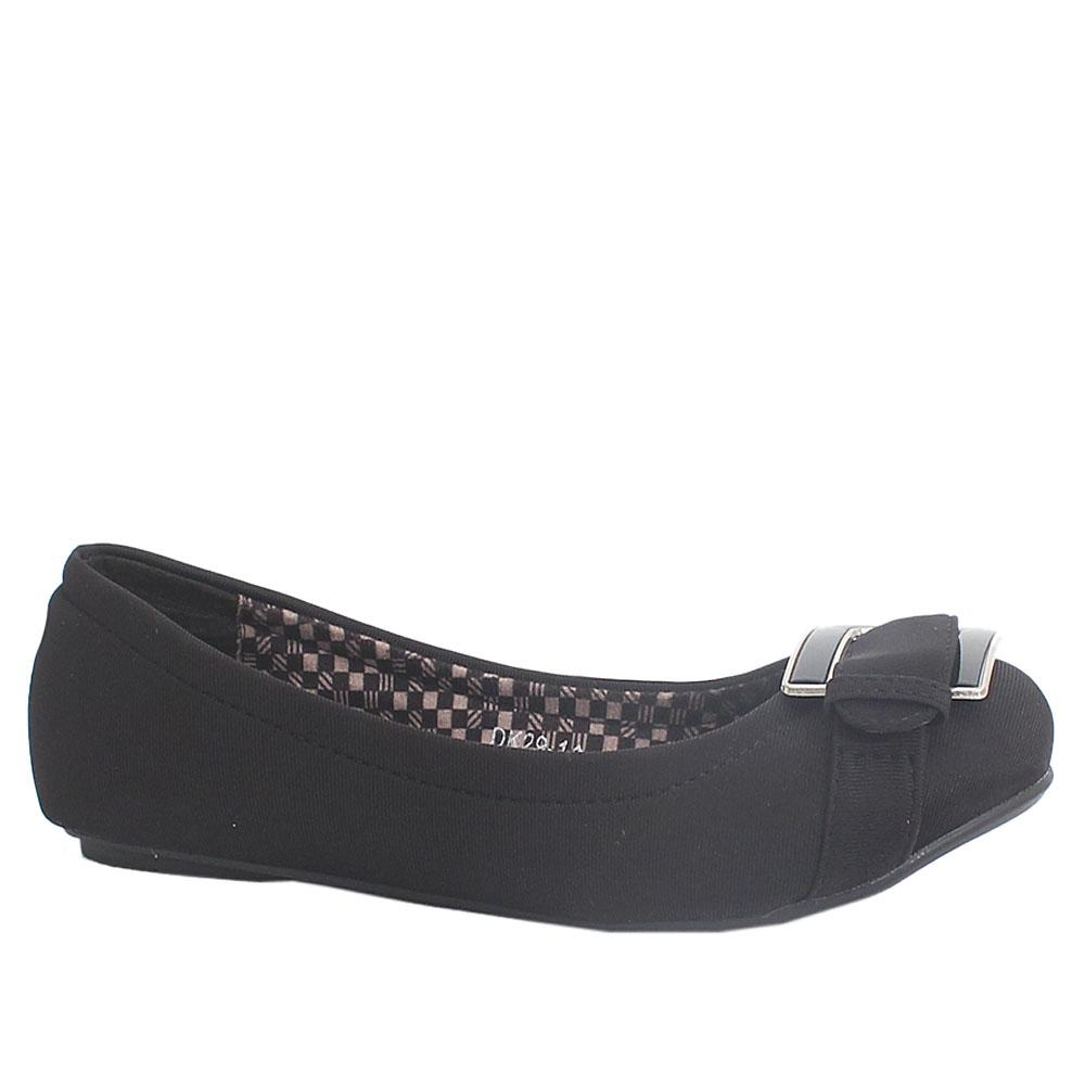American Eagle Black Leather Ladies Flat Shoe