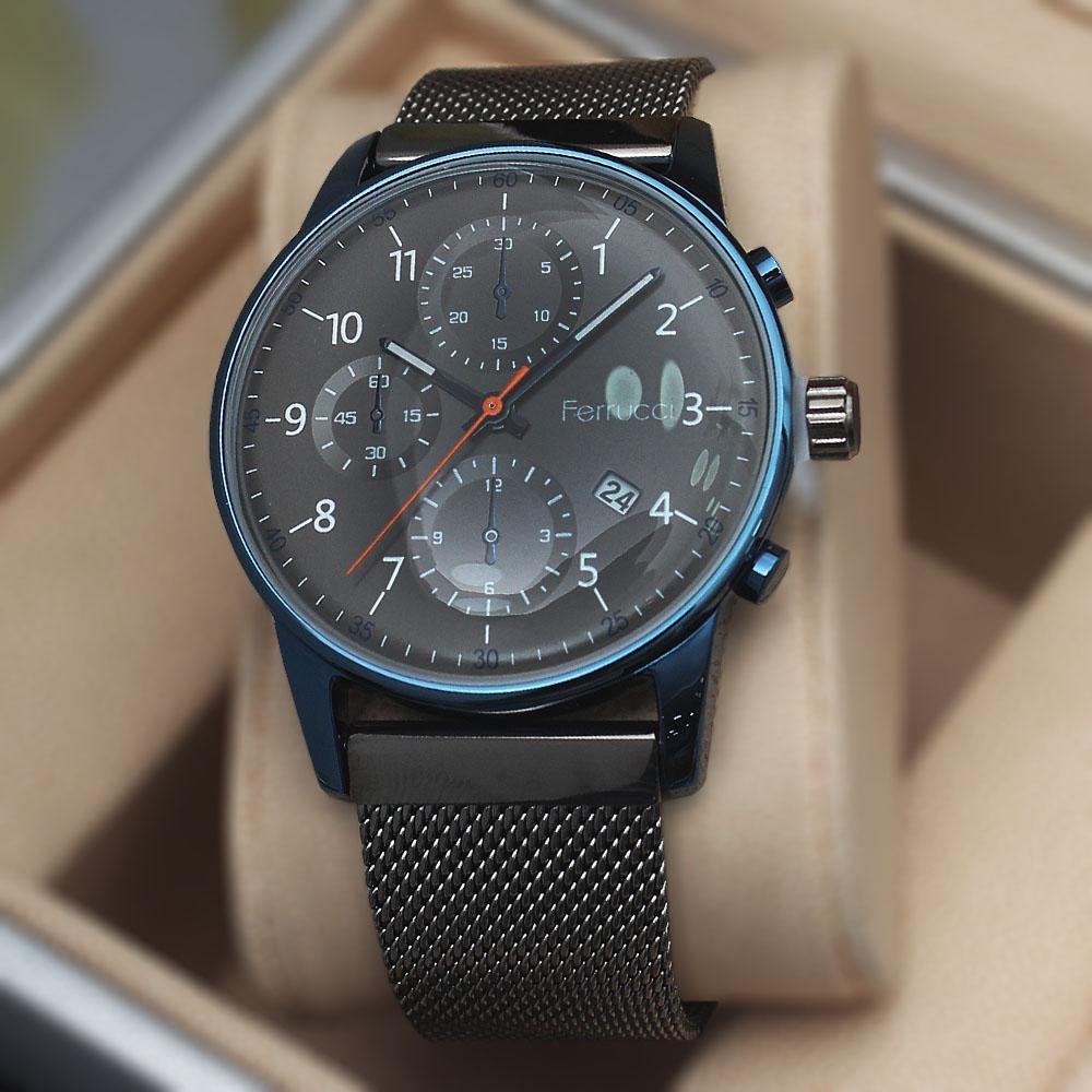 Ferruci Adora Grey Mesh Watch