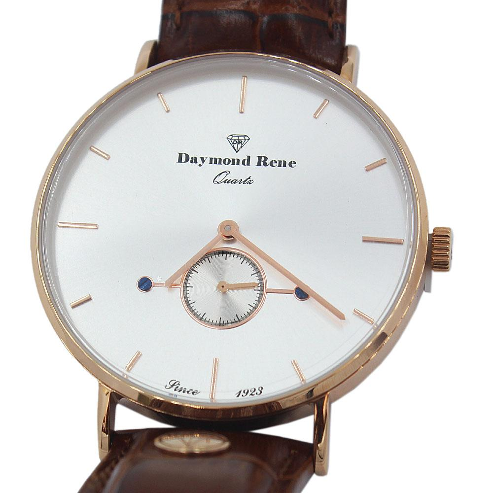DR 3ATM Rose Gold Brown Leather Classic Watch