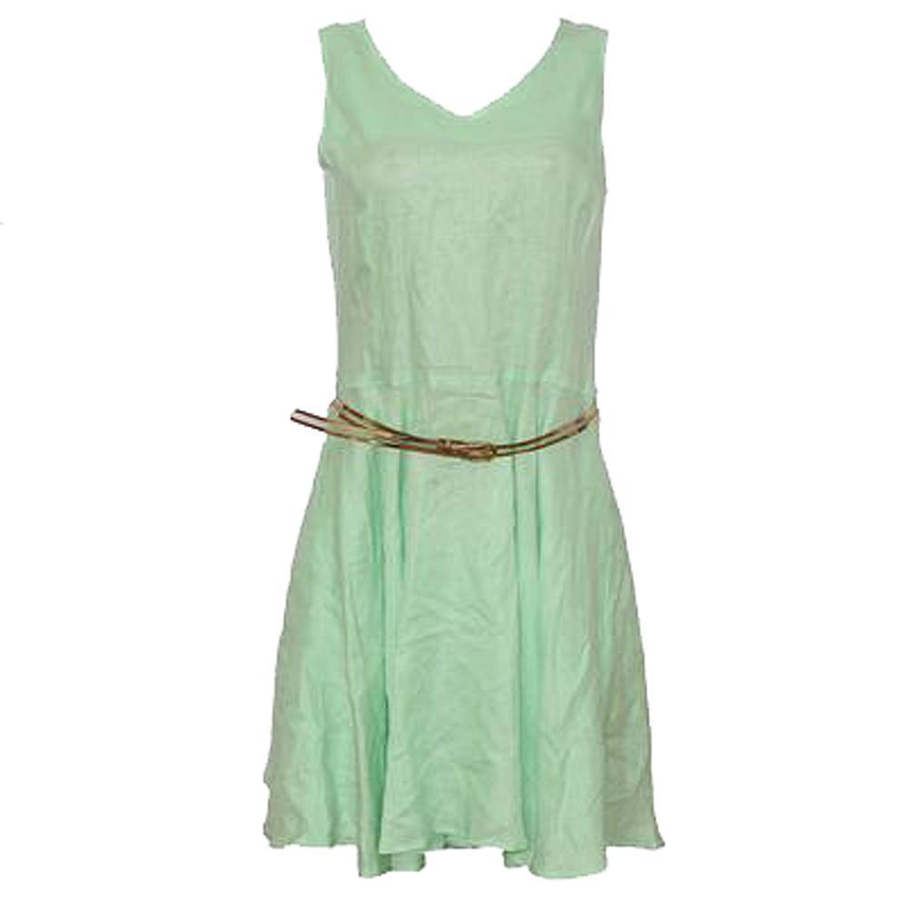 Nisshi Lemon Cotton Flare Dress