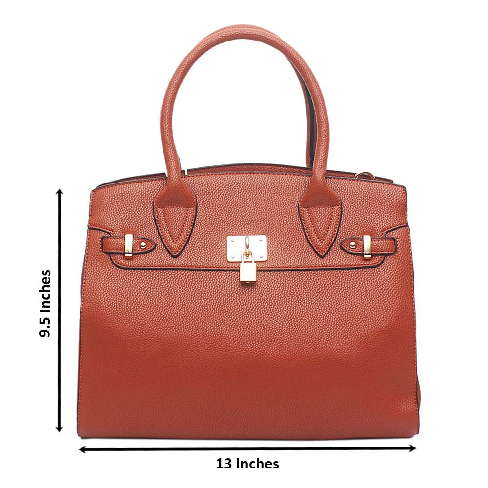 London Style Brown Leather Tote Bag