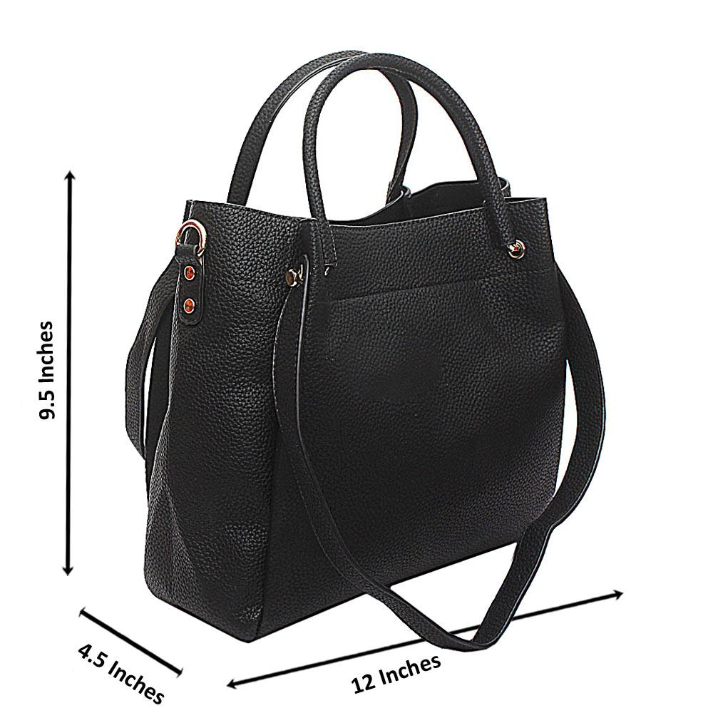 Black Kendo Medium Handbag