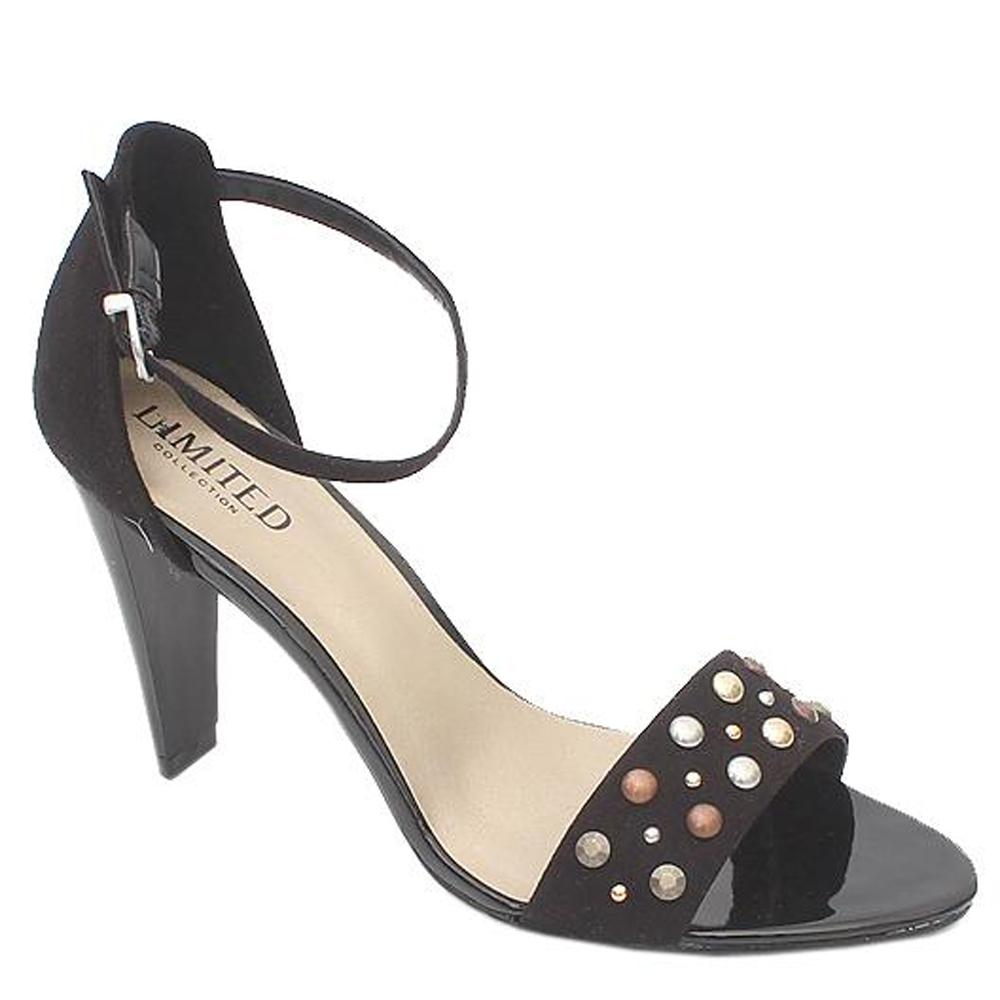 Mark & Spencer Black Studded Leather Ladies Heel Sandals