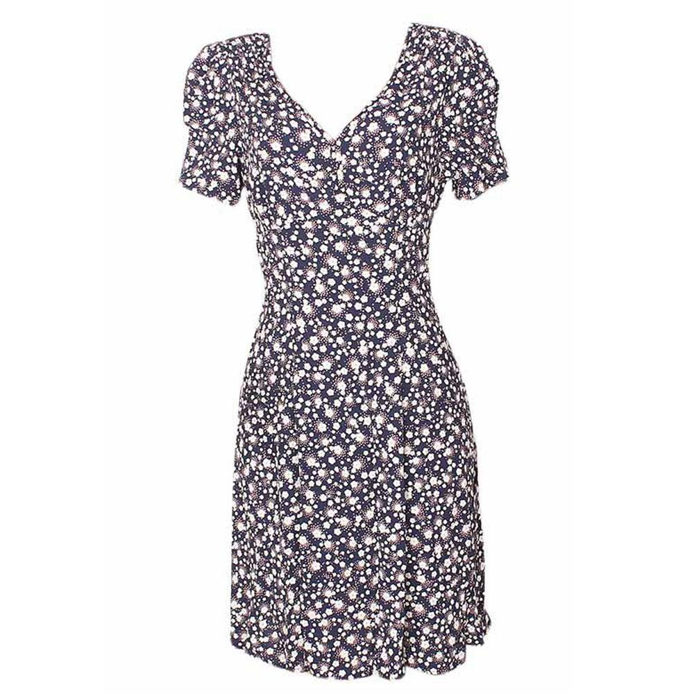 M&S Navi Mix Cotton Ladies Dress