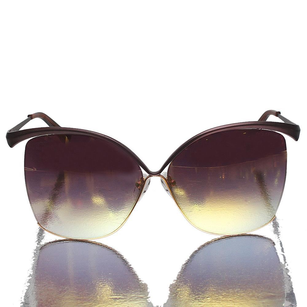 Bronze Square Face Gold Polarized Lens Sunglasses