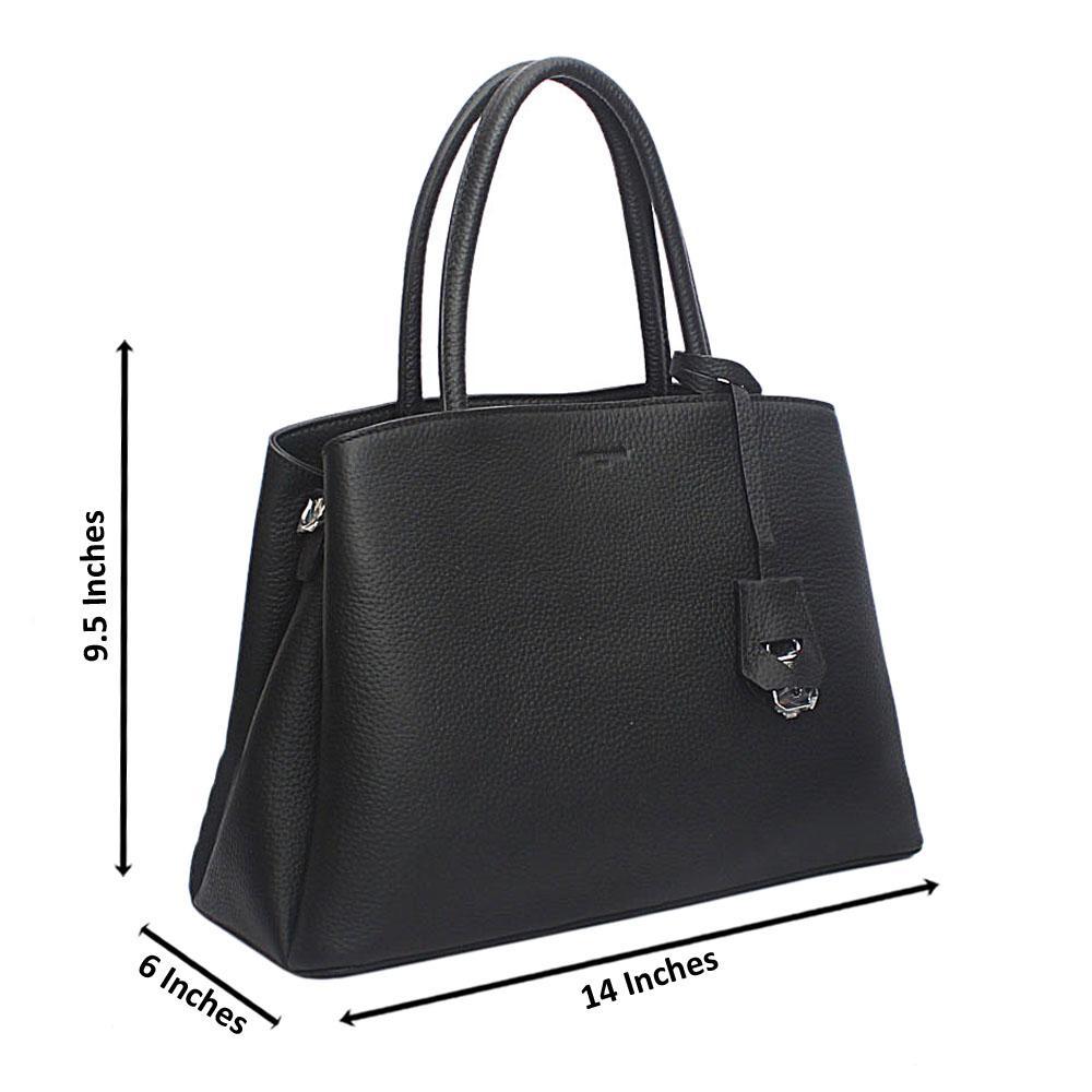 Forstmann Iconic Black Cow-Leather Tote Handbag