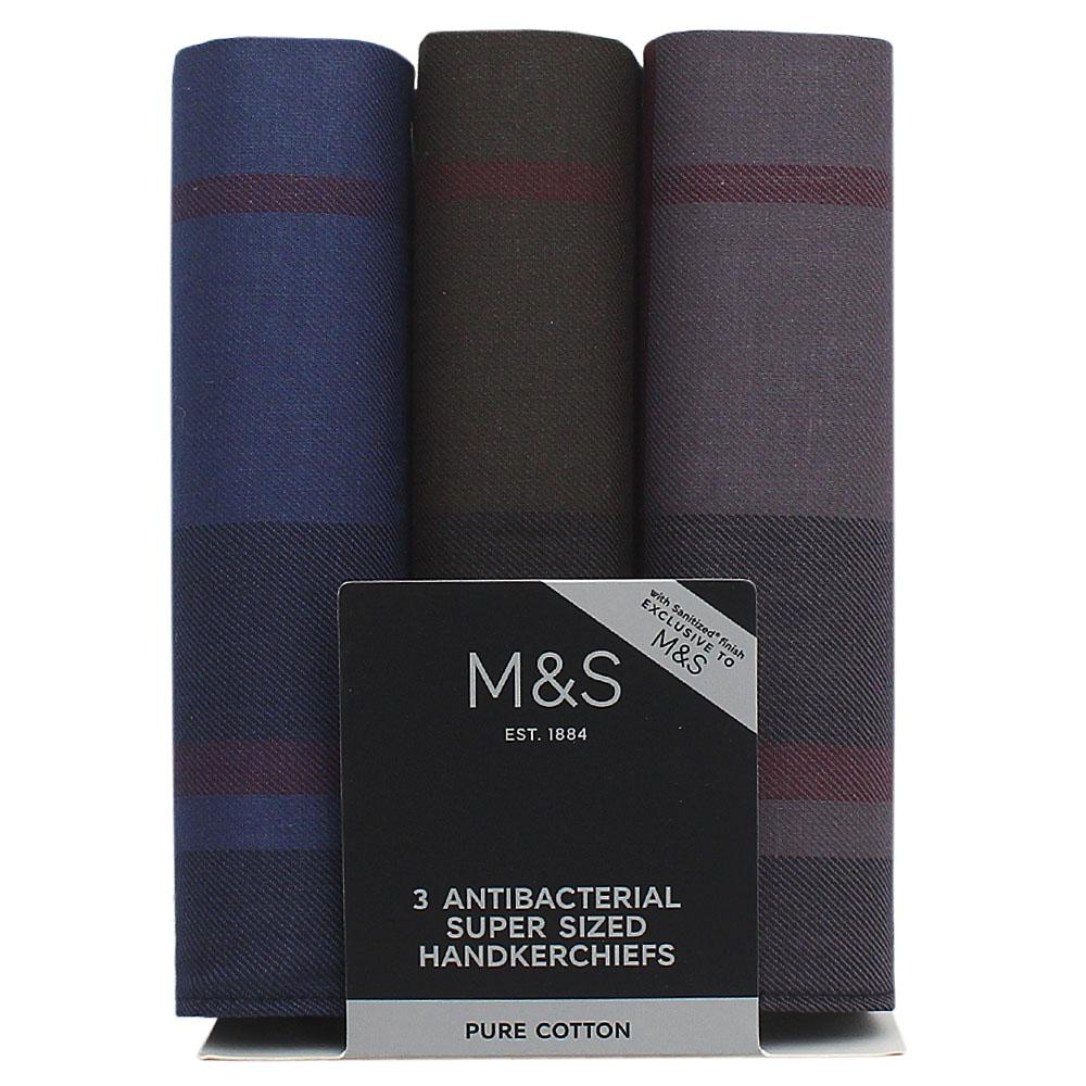 M&S 3in1 Antibacterial Super Sized Handkerchiefs