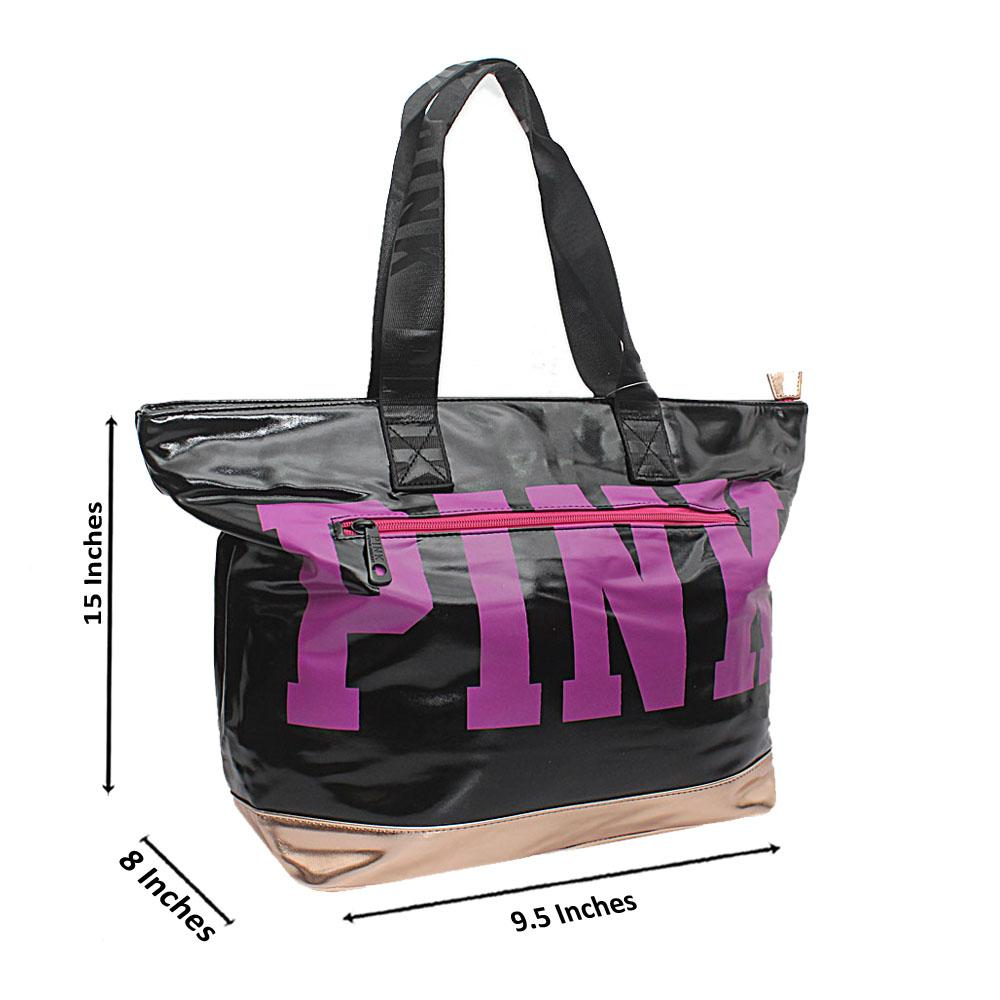 VS Black Gold Patent Leather Duffle Bag