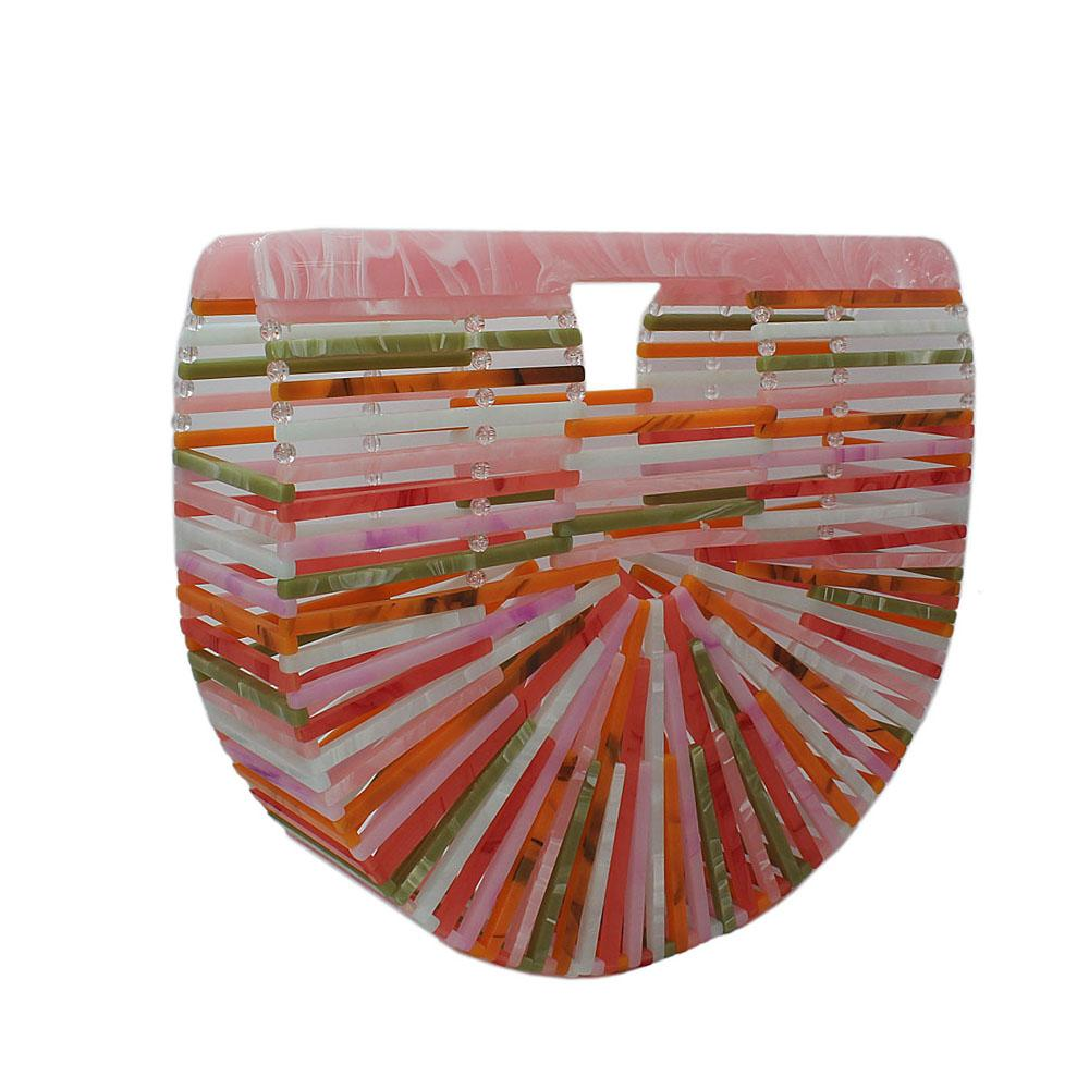 Multicolor Ark Acrylic Clutch Purse