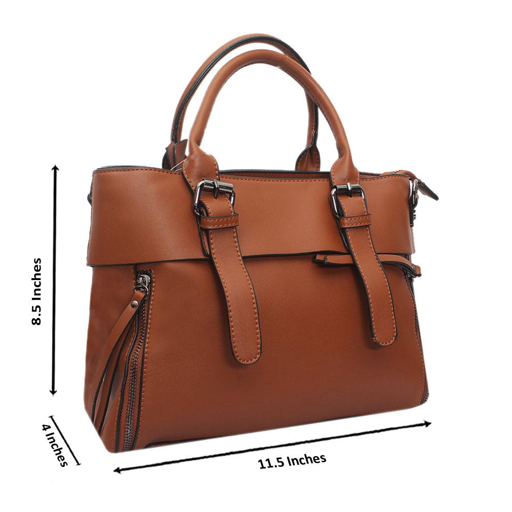 Brown Leather Medium Dainty Bag